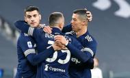 Cristiano Ronaldo voltou a marcar na vitória sobre o Sassuolo (fotos EPA/ALESSANDRO DI MARCO)