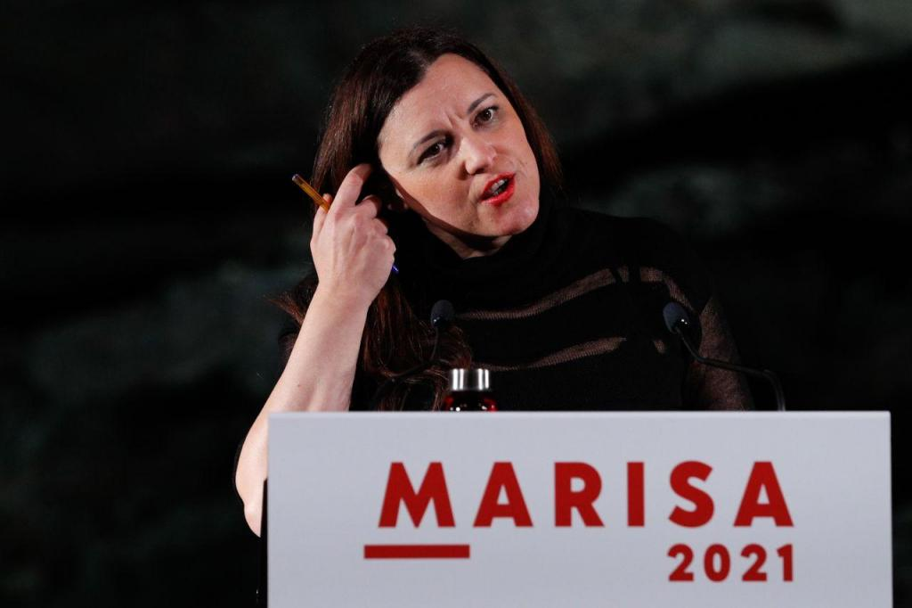 Marisa Matias participa em comício