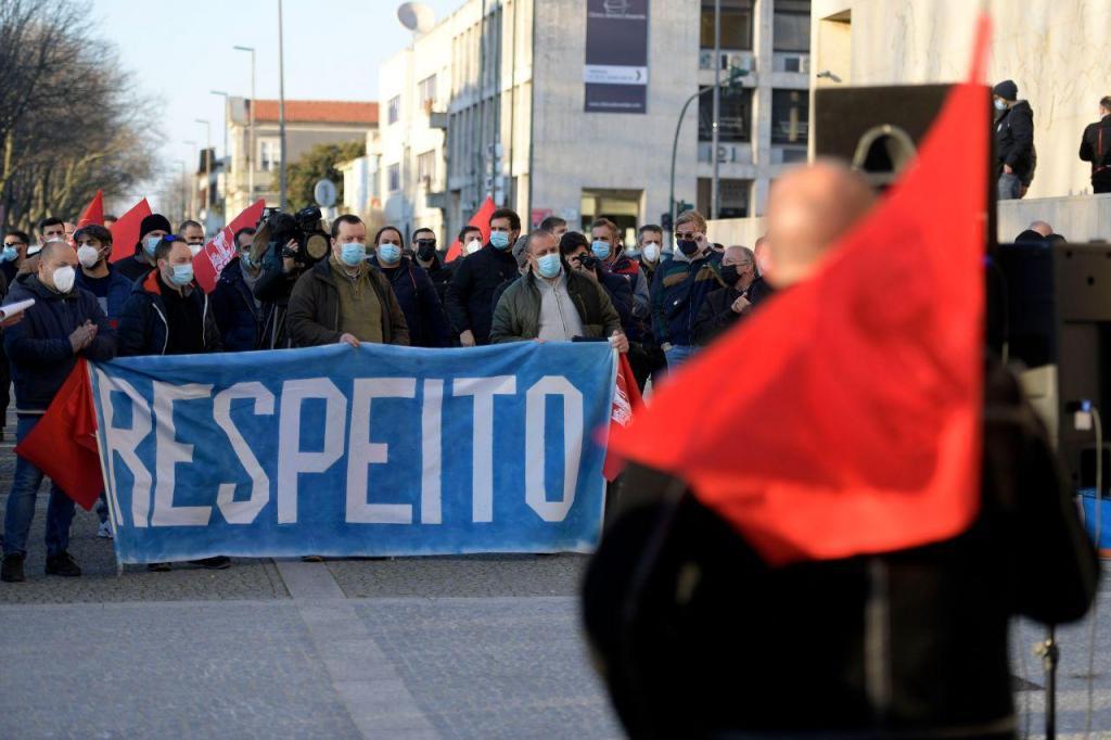 Ação de luta pela refinaria do Porto da Petrogal em Matosinhos