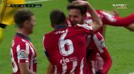 Saúl faz o 2-0 para o Atlético com remate cruzado