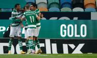 Sporting festeja golo inaugural de Pedro Gonçalves frente ao Rio Ave (António Cotrim/LUSA)