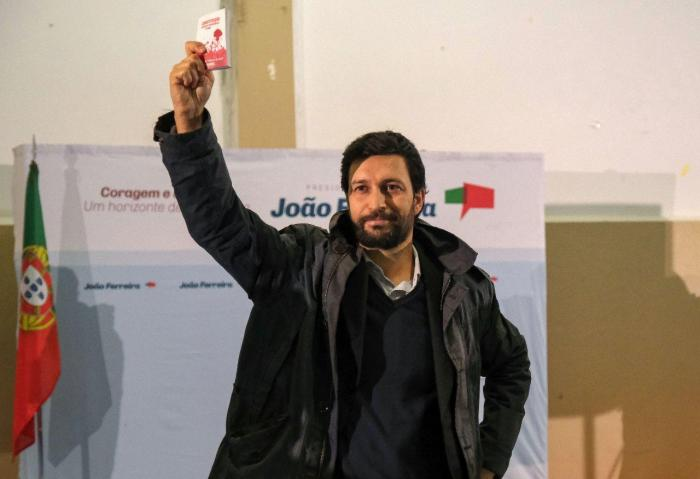 João Ferreira em campanha na Baixa da Banheira