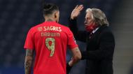 Jorge Jesus conversa com Darwin no FC Porto-Benfica (Estela Silva/LUSA)