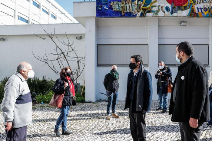 João Ferreira visita Escola Secundária António Arroio, em Lisboa