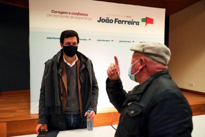 João Ferreira em campanha em Serpa
