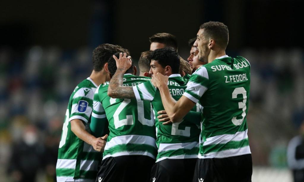 Taça da Liga: Sporting-FC Porto, festejos do Sporting (Paulo Cunha/LUSA)