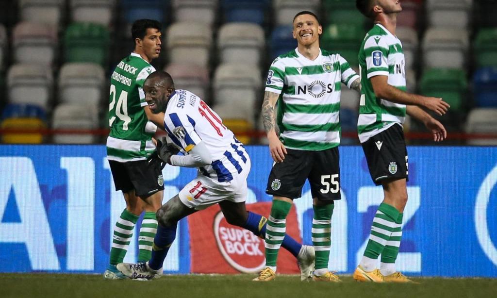 Taça da Liga: Sporting-FC Porto, festejos de Marega (Paulo Cunha/LUSA)