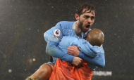 Bernardo Silva abriu triunfo do Manchester City frente ao Aston Villa (Martin Rickett/AP)