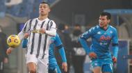 Supertaça de Itália: Juventus-Nápoles, Cristiano Ronaldo decidiu ao abrir caminho com o primeiro golo da vitória por 2-0 (Antonio Calanni/AP)