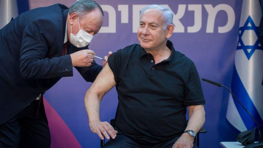 Netanyahu vacinado pela segunda vez