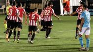 Athletic Bilbao festeja golo de Raúl García, que iniciou a reviravolta ante o Ibiza-Eivissa na Taça do Rei (Sergio G. Canizares/EPA)