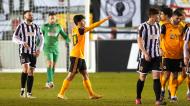 Vitinha fez o primeiro golo do Wolverhampton ante o Chorley, na Taça de Inglaterra (Jon Super/AP)
