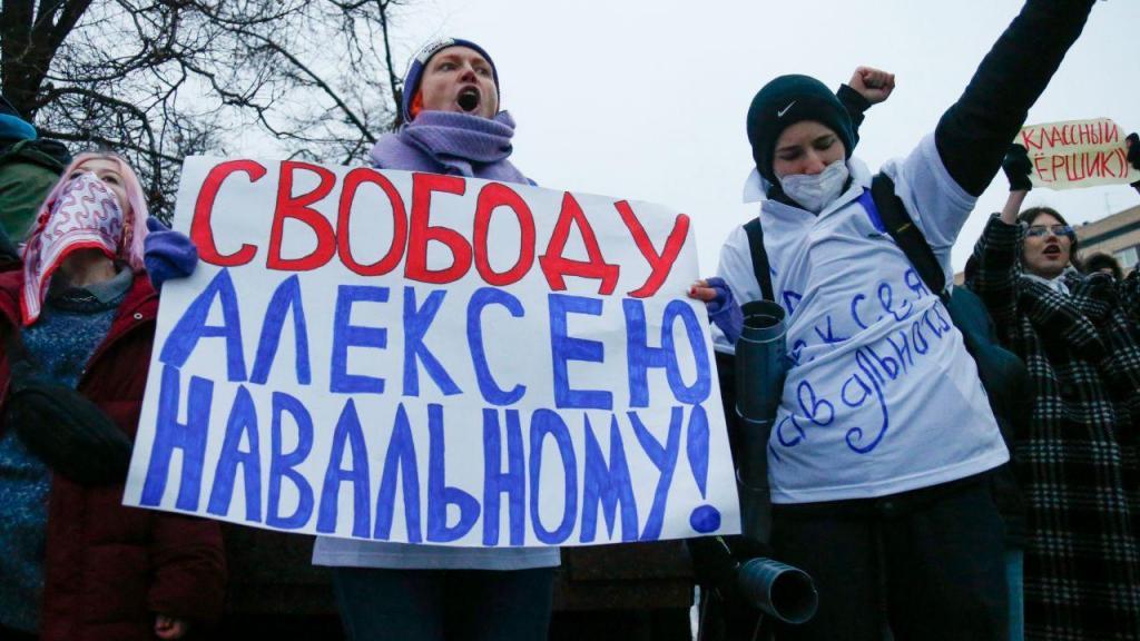 Protestos para a libertação de Navalny