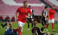 Chiquinho fez o 1-0 no Benfica-Nacional (Manuel de Almeida/LUSA()