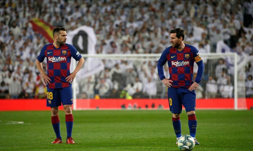 Jordi Alba e Messi
