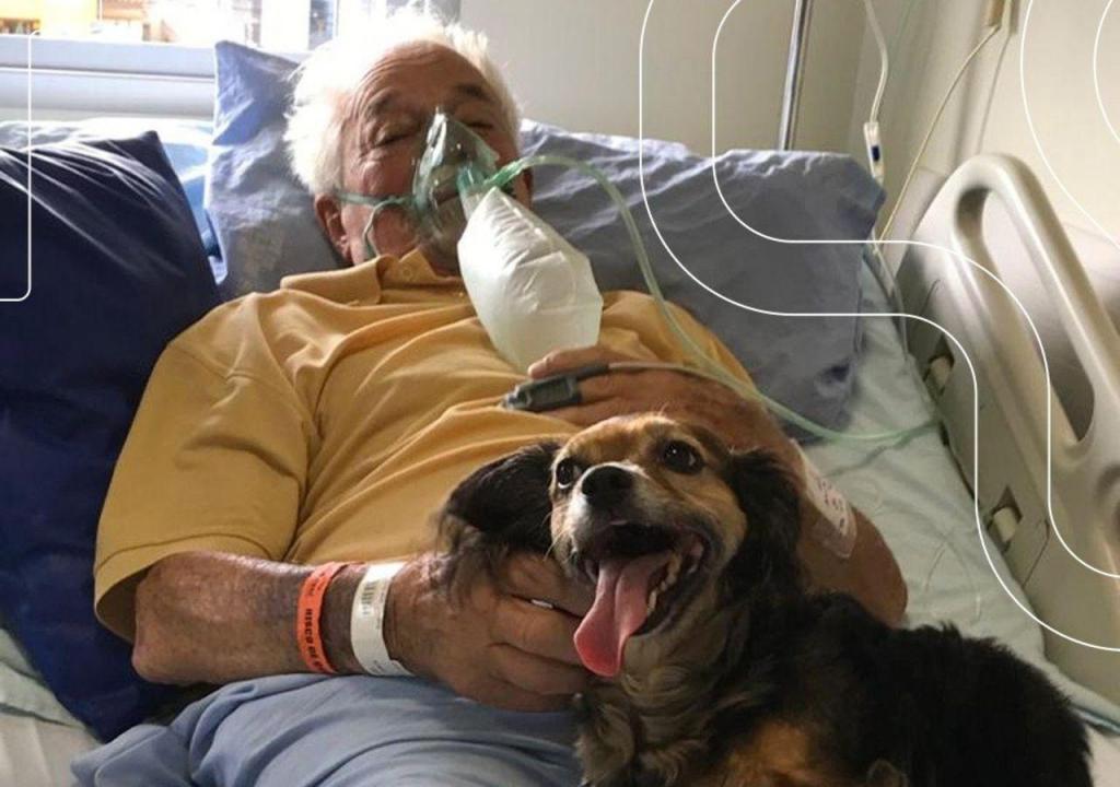 Brasileiro recebe visita especial no hospital