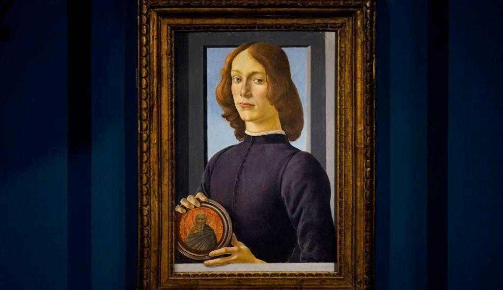 """""""Retrato de jovem a segurar um medalhão"""""""