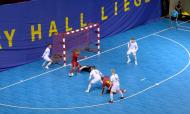 Golo de Omar Rahou no Bélgica-Finlândia, apuramento para o Euro 2022 de futsal