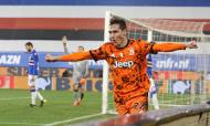 Federico Chiesa inaugurou o marcador no Sampdoria-Juventus (Tano Pecoraro/AP)