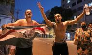 Adeptos do Palmeiras festejam conquista da Libertadores no Rio de Janeiro (Fábio Motta/EPA)