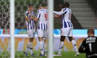 FC Porto festeja o 1-0 de Luis Díaz ante o Rio Ave (Estela Silva/LUSA)