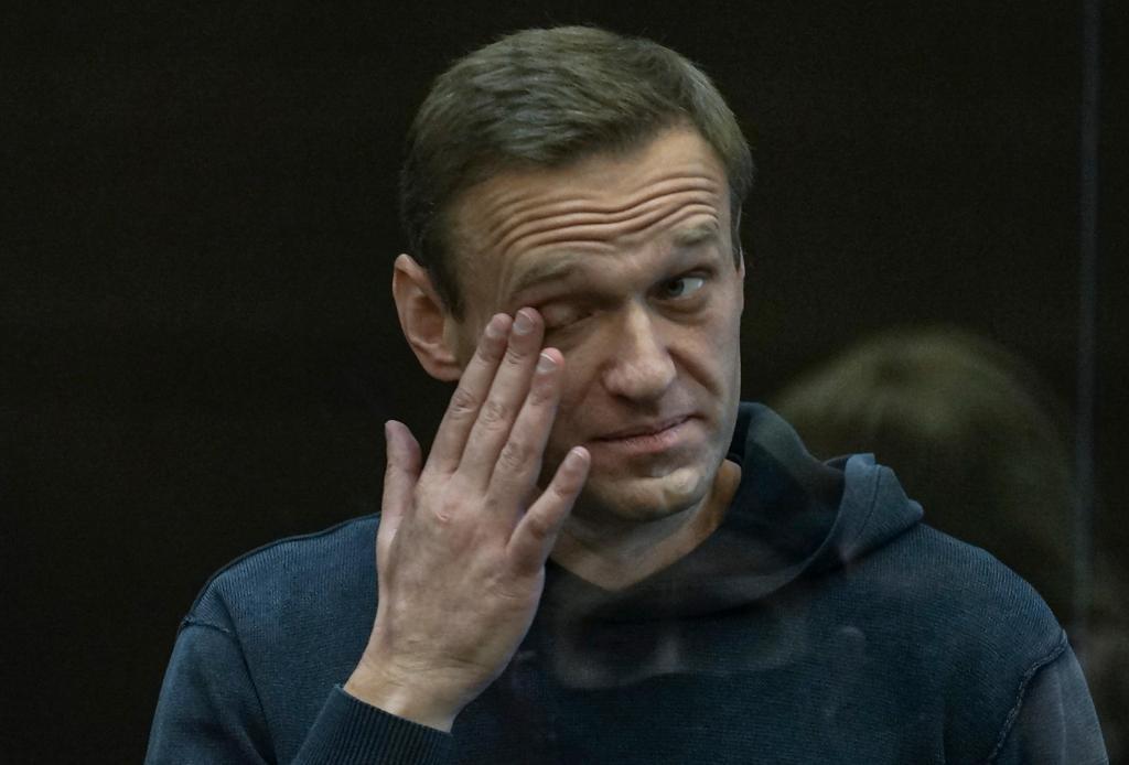 Alexei Navalny no tribunal de Moscovo