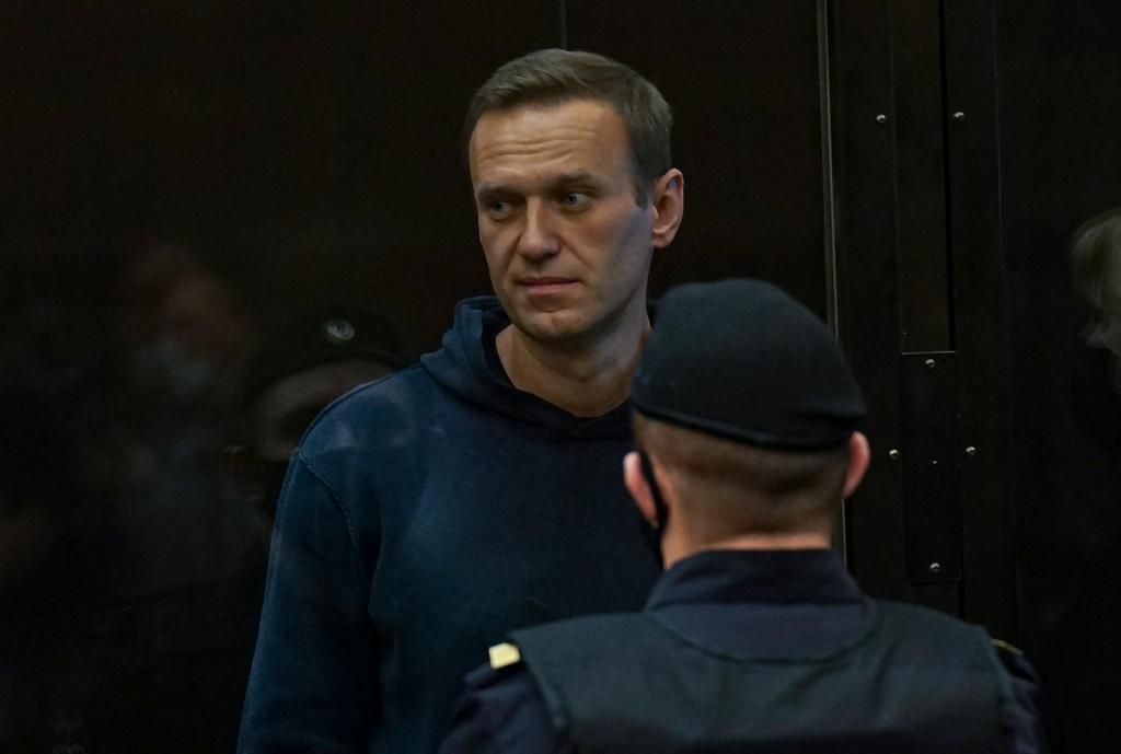 Alexei Navalni no tribunal de Moscovo