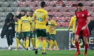 Festejos de um dos golos da vitória do Paços de Ferreira ante o Gil Vicente (LUSA)