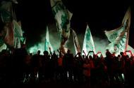 Adeptos do Palmeiras apoiam equipa à partida para o Mundial de Clubes