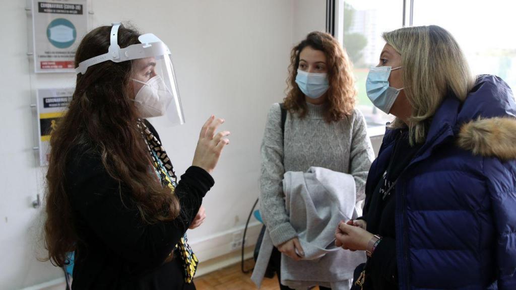 As voluntárias, Sónia Garcia, mãe, e Margarida Garcia, filha