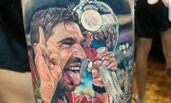 Adepto do Palmeiras tatuou Abel após conquista da Libertadores (Foto: Instagram ricardosoares.tattoo)
