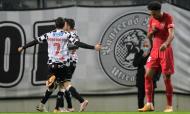 Boavista festeja o golo do empate ante o Gil Vicente, já perto do intervalo (Fernando Veludo/LUSA)