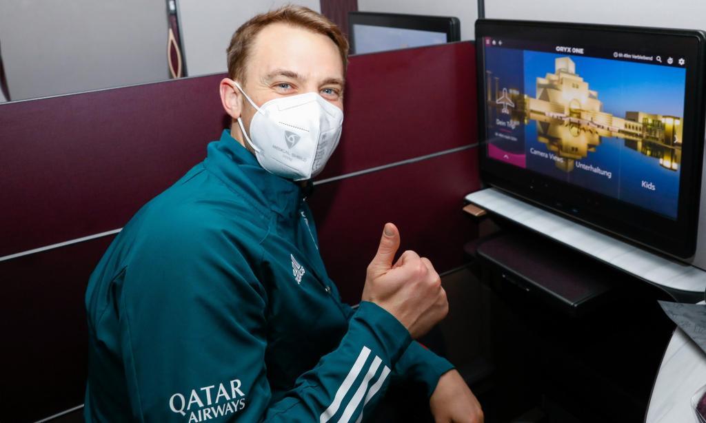 Neuer a caminho do Mundial de Clubes (foto: Bayern)