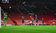 O 2-0 de Bruno Fernandes no Manchester United-Everton (Michael Regan/AP)