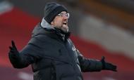 Jurgen Klopp no Liverpool-Manchester City (Laurence Griffiths/Pool via AP)