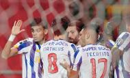 FC Porto festeja o primeiro golo em Braga, apontado por Sérgio Oliveira (Hugo Delgado/LUSA)