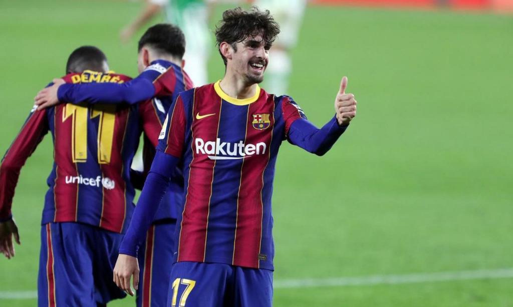 Francisco Trincão decidiu Betis-Barcelona com golaço (Foto: FCB)