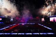 O espetáculo de The Weeknd no halftime show do Super Bowl (AP)