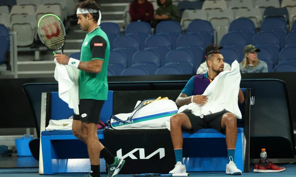 Nick Kyrgios e Frederico Silva (AP Photo/Hamish Blair)
