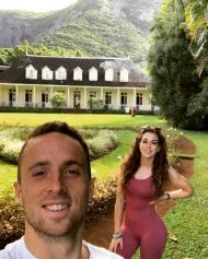 Diogo Jota e Rute Ferreira