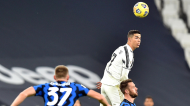 Cristiano Ronaldo no Juventus-Inter, da Taça de Itália (Alessandro Di Marco/EPA)