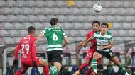 João Palhinha, Matheus Nunes, Lucas Mineiro e Samuel Lino no Gil Vicente-Sporting (Hugo Delgado/LUSA)