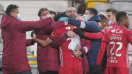 Gil Vicente festeja o 1-0 ante o Sporting (Hugo Delgado/LUSA)