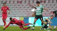 Baraye, Palhinha e Matheus Nunes no Gil Vicente-Sporting (Hugo Delgado/LUSA)