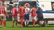 Jogadores do FC Porto e Sp. Braga tiveram de empurrar a ambulância
