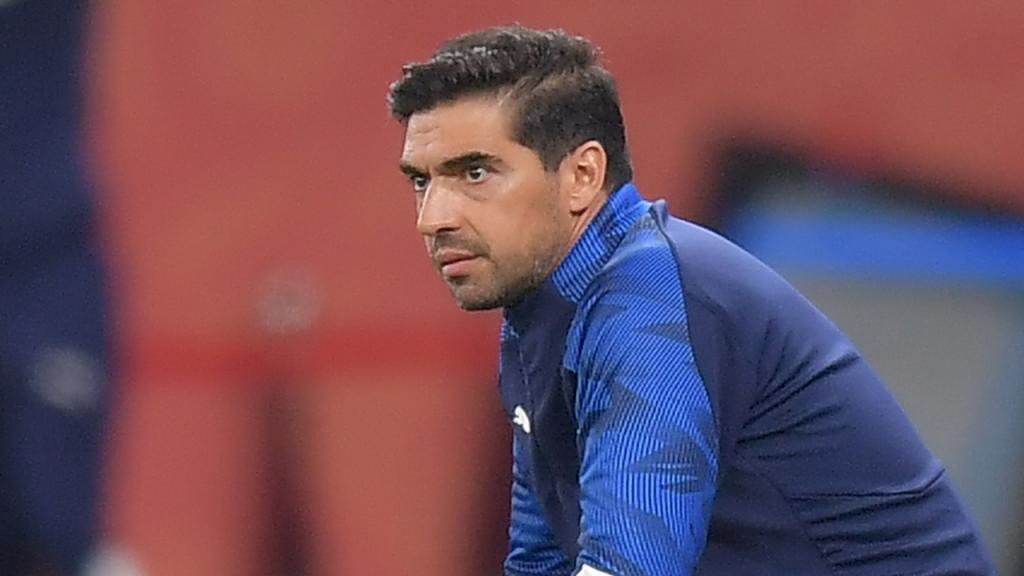 Abel Ferreira no Al Ahly-Palmeiras (Noushad Thekkayil/AP)