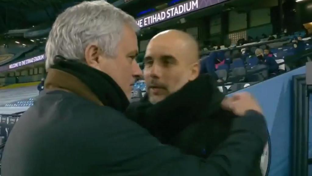 Mourinho e Guardiola (twitter)