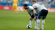 Leandro Paredes e Lionel Messi na seleção da Argentina (Victor R. Caivano/AP)
