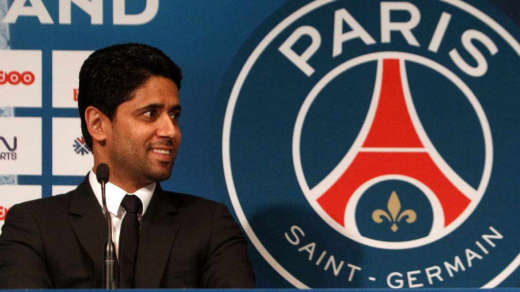 Presidente do Paris Saint-Germain, Nasser Al-Khelaïfi (AP)