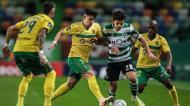 Sporting-P. Ferreira: Hélder Ferreira e Pedro Gonçalves (Mário Cruz/Lusa)